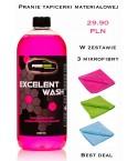 Zestaw pranie tapicerki + 3 szt mikrofibra